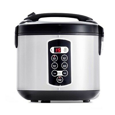 Rice Cooker Digital 10 Cup Electric Multiple Cooking Functions Slow Cook Option
