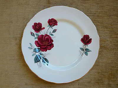 """Old Foley James Kent """"Roses"""" Bread/Cake Plate Made In England"""