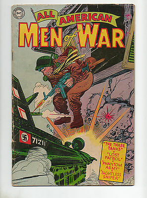All American Men of War #13 1954 VG TOUGH Pre-Kubert BOOK 1 127 28 67 Man v Tank