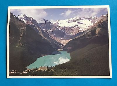 Lake Louise Banff National Park From The Air Postcard Canadian Rockies Mountains