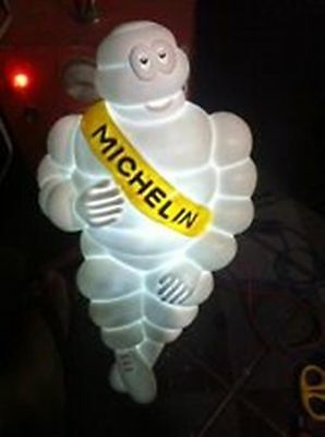 "A Michelin Man Doll Figure  17"" Tire  There Is Fire Free Shipping  White  Yellow"