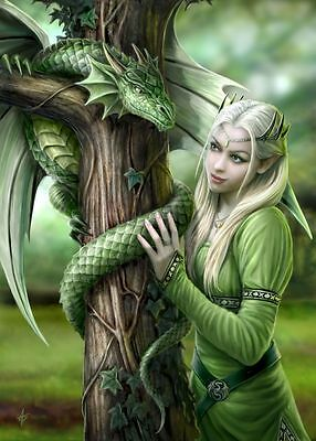 Anne Stokes Kindred Spirits Dragon Greeting Card