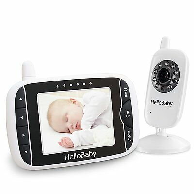HelloBaby HB32 Digital Wireless Video Baby Monitor with Night Vision &...