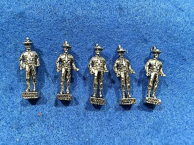 Lot of 5 1970's Vintage Texas Ranger Metal Charms