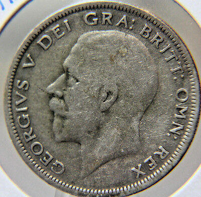 1936 Great Britain Silver Half Crown of George V - .500 Silver - Lot # FC 85