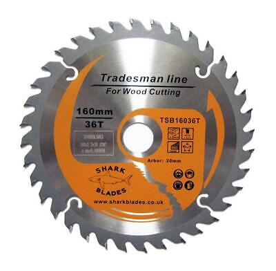 TCT Circular Saw Blade by Shark Blades 160mm x 20mm x 36T By SHARK BLADES