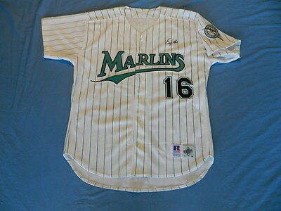 Edgar Renteria circa 1996-98 Florida Marlins game used jersey