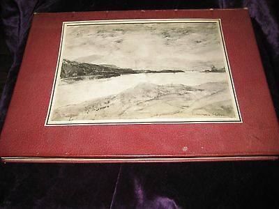 Donald Macbeth BOOK of 9 RARE DY.Cameron collotypes of Scottish Locations