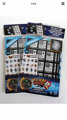 Yo-Kai Watch Series 1 Medallium Collection Book Pages Lot of 2 New