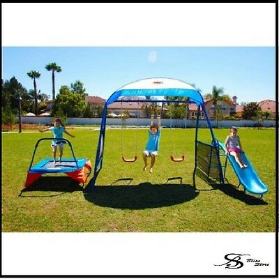 Swing Set Trampoline Canopy Shade Playground Play Swingset Playset