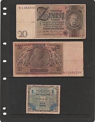 GERMANY Paper Money - Banknotes Collection 1920's 1940's (11)