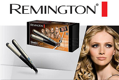 Remington S6500 Piastra Sleek & Curl, Stretta, Rivestimento Ceramica