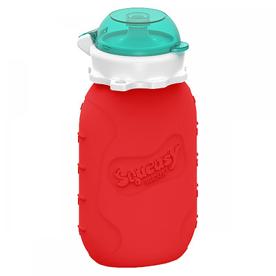 Reusable Baby Food Pouch + Squeeze, Portable, Refillable Baby Food Container, St