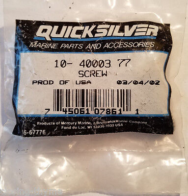 New Old Stock OEM Quicksilver F197319 197319 Mercury Mariner Force BUSHING