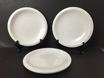 """Lot of 3 Culinary Arts Cafeware Porcelain 10 1/8"""" Dinner Plates"""