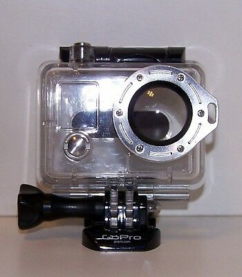 Genuine GoPro HERO 2 Waterproof Dive housing with Silver lanyard  spare parts
