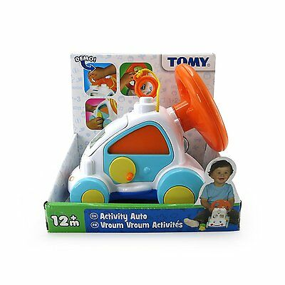Tomy Activity Auto Toddler Toy With Steering Wheel & Shape Sorter 12M+ Brand New