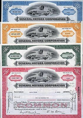 4 General Motors Corporation, Green, 1966 + Yellow, 1970 + Red, 1973 + Blue 1976