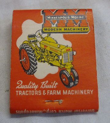 Vintage Minneapolis Moline Mm Tractor Advertising Matchbook New Richland Mn