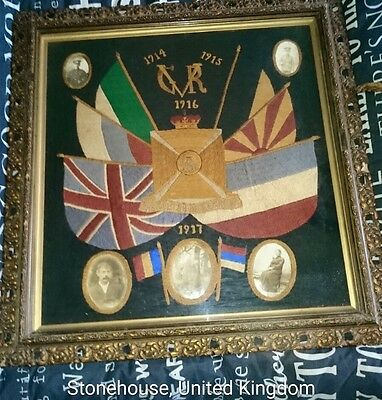 *OFFERS*Ww1,Wilts Reg,Photo's of solders.Flags, of AliesUK,framed,vibrant colour