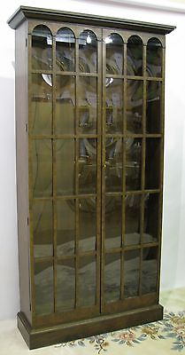 "Stunning Vintage Baker Furniture ""Collector's Edition"" 7Ft Cabinet; Curved Glass"