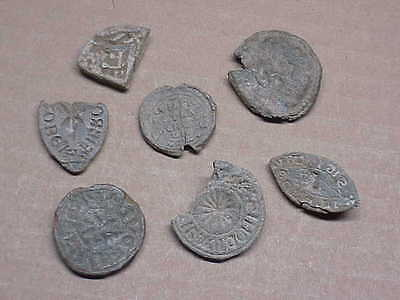 #434 Lot 7 Ancient Byzantine 1000 A.d. Lead Seal Artifact Papal Relics St. Image