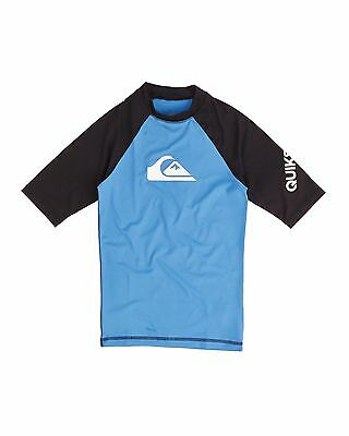 NEW QUIKSILVER™  Boys 8-16 All Time Short Sleeve Rash Vest Boys Teens Ski
