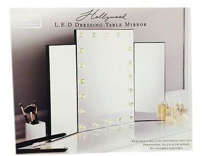 Modern Hollywood 20 LED Bulb Vanity Mirror Dressing Table Mirror Frame New