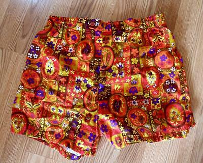 Vintage 1970's Jantzen  Short Swim Trunks Suit Shorts Vibrant Print sz 36 EUC