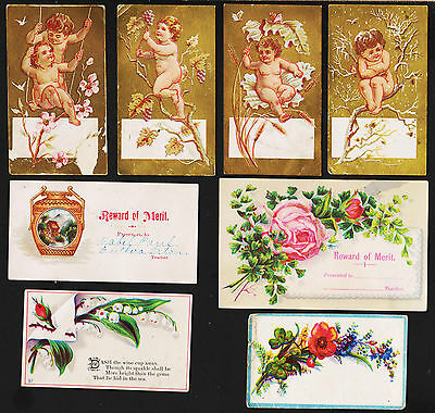 X10 Old Small Victorian Trade or Business Cards
