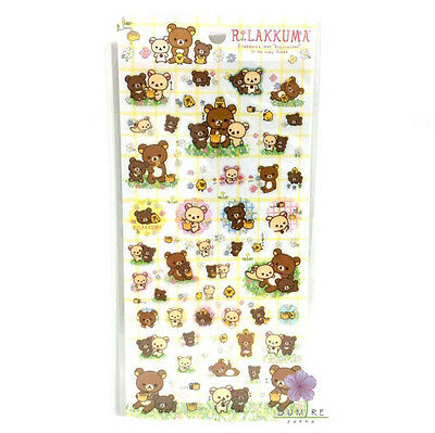 San-X Rilakkuma Clear Colorful Stickers From Japan