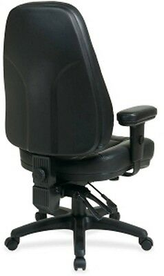 Office Star High-Back Eco-leather Chair, Black