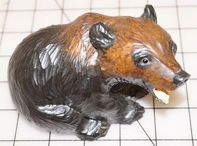 Hand Carved Black Forest Wooden Bear
