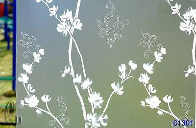 90cm x1m Floral Privacy Frosted Frosting Removable Glass Window Film c1301