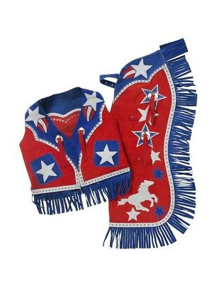 Tough-1 Western Chaps Kids Vest Set Barrel Horse Star Adjustable 63-2762