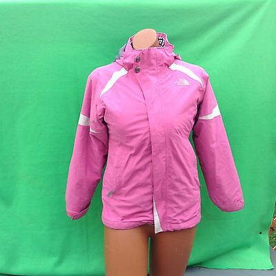 THE NORTH FACE junior youth girl's  pink 3 in1 outerwear hoodie jacket size--M