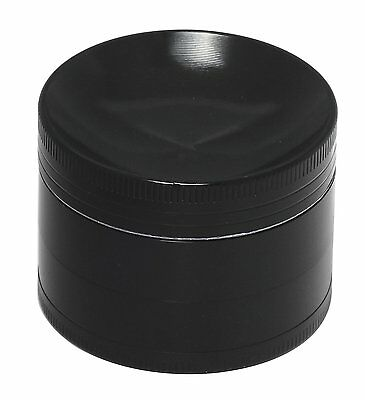 "Concave 2.2"" X 4 Layers Grinder Crusher Tobacco Herb Spice Zinc Alloy-Black"