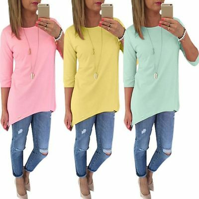 Women's Ladies Clothing Loose Long Sleeve Casual Blouse T Shirt Tops Blouse Tee
