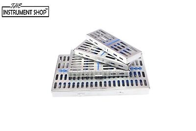 Sterilization Stainless Cassette Trays Holds 10 Instruments