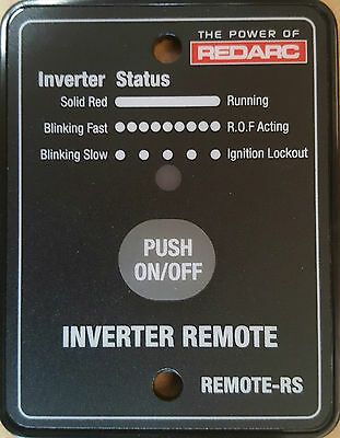 Redarc Inverter Remote-Rs Designed To Work With The Redarc Rs Series Inverteres
