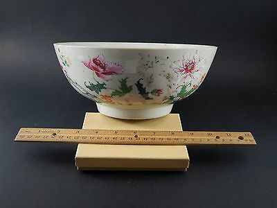 """Antique 18th Century Chinese Famiille Rose Bowl  Elinor Gordon Collection 9 3/8"""""""