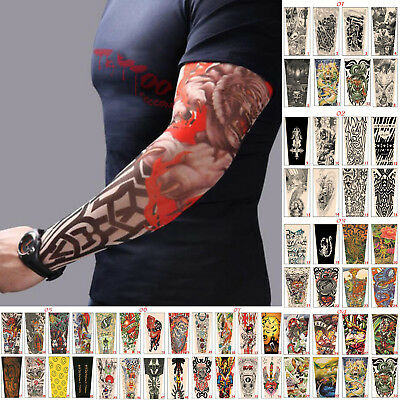 Fashion Nylon Temporary Tattoo Sleeve Arm Stockings Tatoo For Men Women