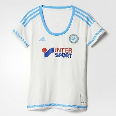 adidas Ladies Olympic Marsaille Home Jersey Size M White RRP £60 BNWT S11896