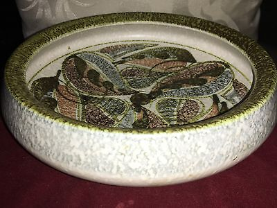 Denby Bowl With Abstract Decoration Design Attributed To Glyn Colledge