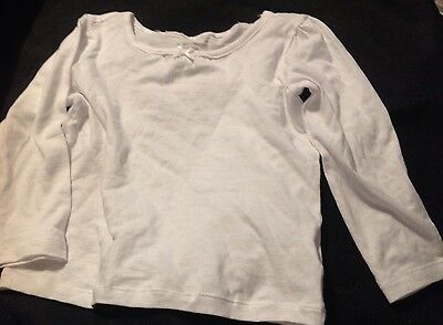 Children's Place Size 2T Brand New Girls White Long-Sleeved Shirt NWT