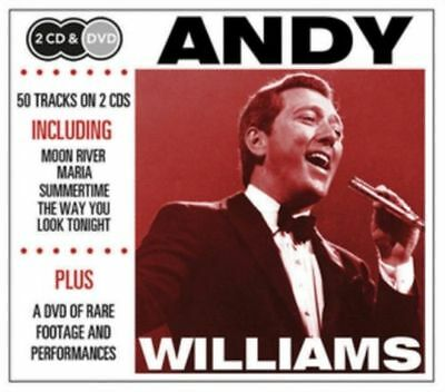 Andy Williams New 2 Cd & Dvd Set 50 Greatest Hits, Best Of & Rare Footage On Dvd