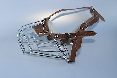 New Strong Metal Wire Basket Dog Muzzle Amstaff Pit Bull, Bull Terrier size 4, 5