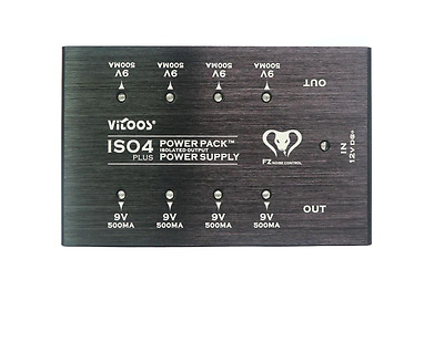 Vitoos IS04PlUS Pedal  9v x 8 outlets Over Load protection Power Supply