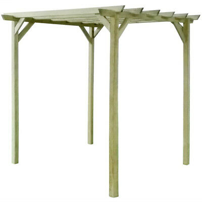 Garden Wooden Pergola Outdoor Patio Structure Roses Arbour Climbing Support New