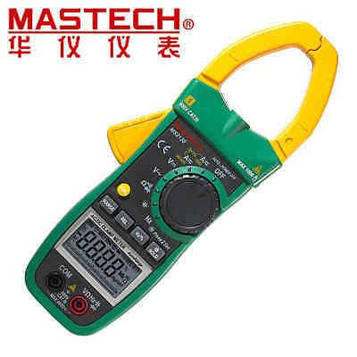 MASTECH MS2138 AC/DC Voltage Current Clamp Meter Cycle/Cap Tester Auto Range